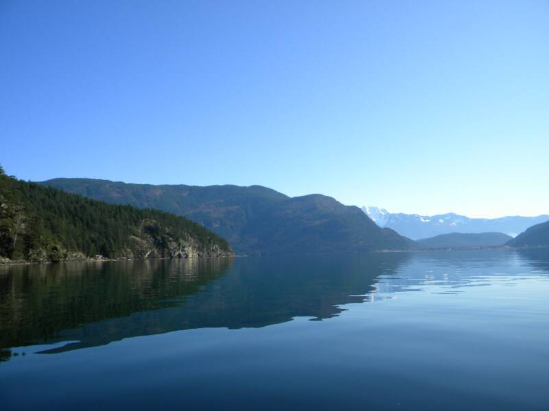 on Harrison Lake looking towards Harrison Hot Springs