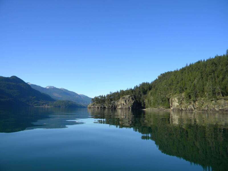 on Harrison Lake looking towards the North