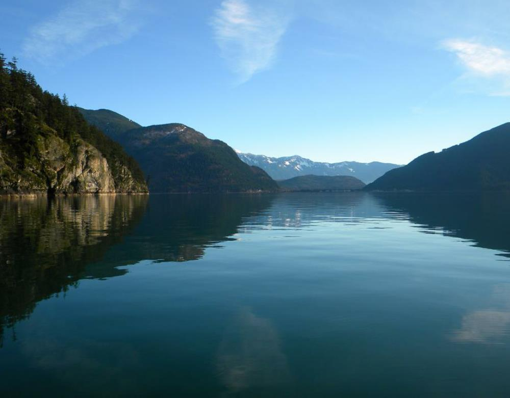 View of Harrison Hot Springs from Elfinlau waterfront Cabin Rentals BC